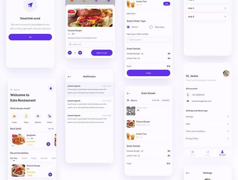 餐饮美食APP应用设计UI套件designshidai_ui74