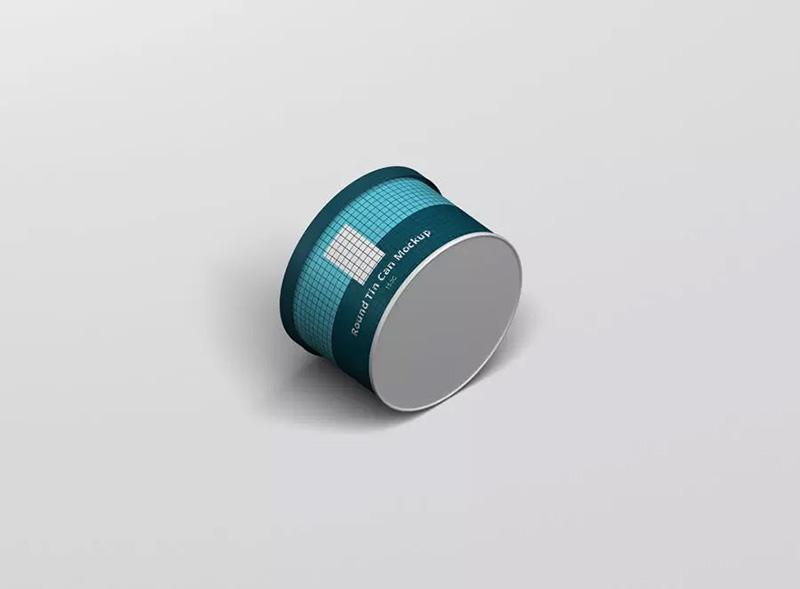 近景细节预览圆柱形茶叶罐样机模板designshidai_yj302