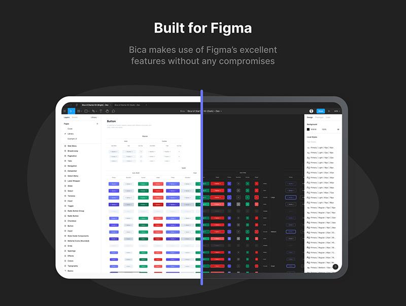 适用于Figma的灵活UI入门套件designshidai_ui21