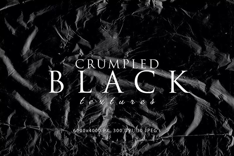 多用途黑色褶皱塑料肌理纹理素材designshidai_beijing26