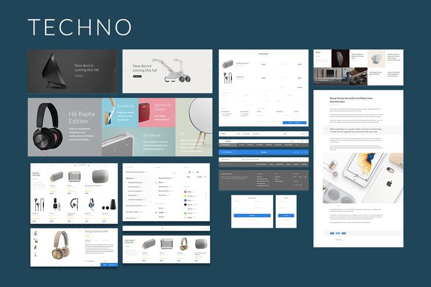网上商城电子商务服装数码UI网页设计 模板designshidai_ui100