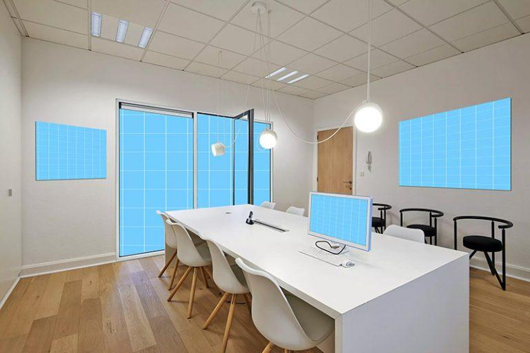 办公室装饰设计效果图样机模板designshidai_yj379