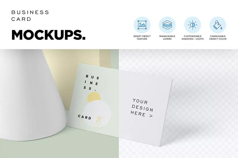 商业公司名片展示效果图样机模板designshidai_yj247