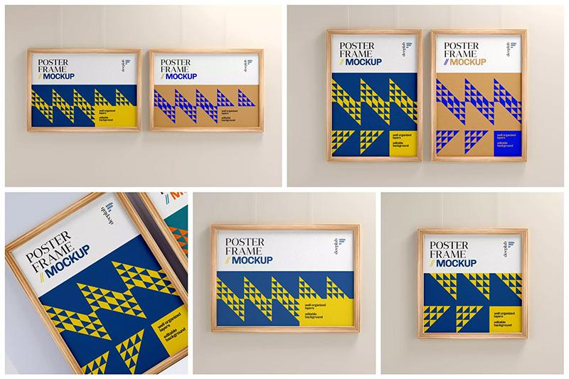 木框海报作品展示样机集designshidai_yj270