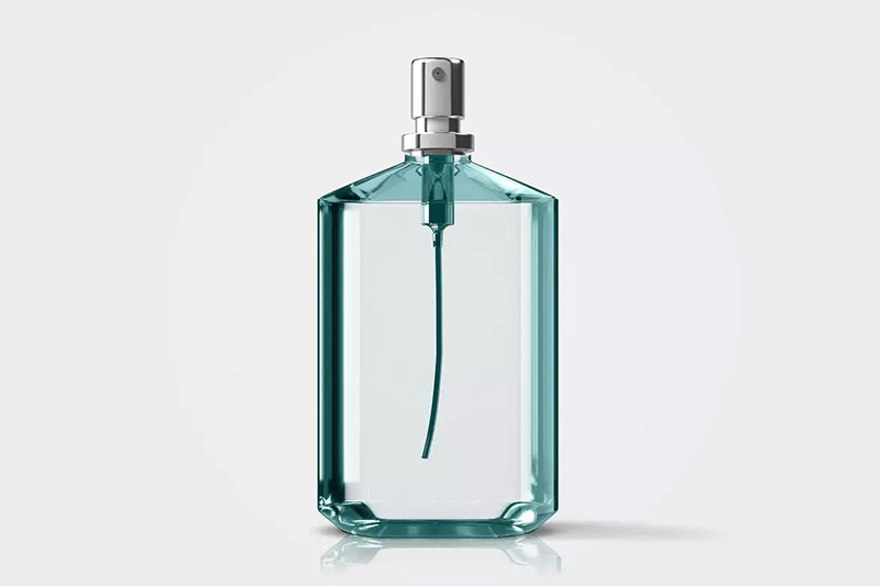 经典透明玻璃款香水瓶外观设计预览designshidai_yj300