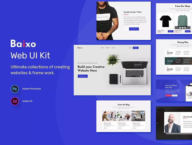时尚现代网站设计Web UI套件designshidai_ui12