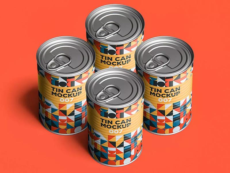 金属锡罐奶粉罐包装设计样机模板designshidai_yj310