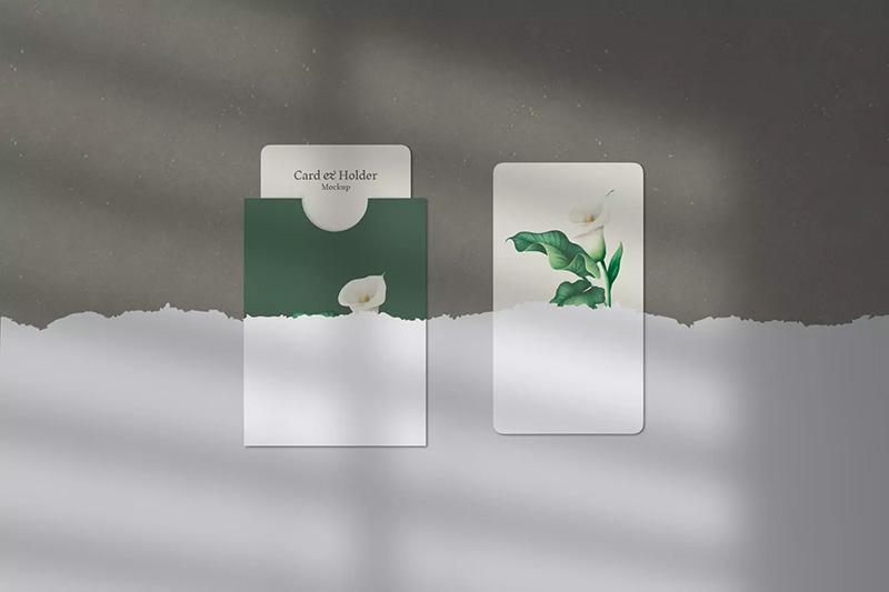 素雅INS风名片/明信片效果图样机模板designshidai_yj320