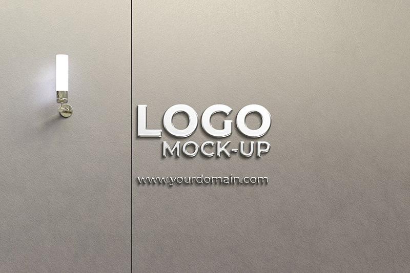 企业Logo墙Logo效果图样机模板designshidai_yj322