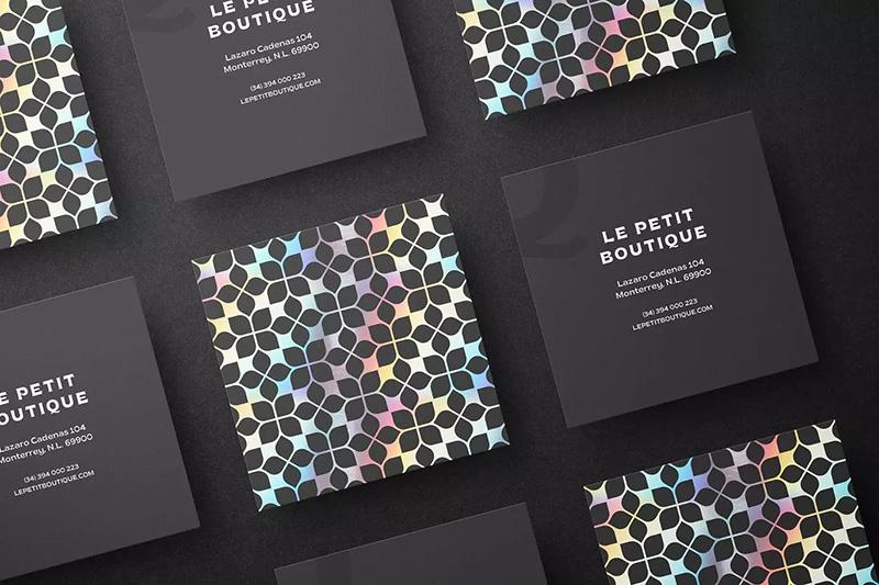 方形黑色高端品牌名片设计样机designshidai_yj324