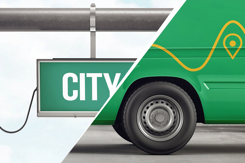 城市公交车&车站汽车运营品牌VI视觉设计样机模板designshidai_yj325
