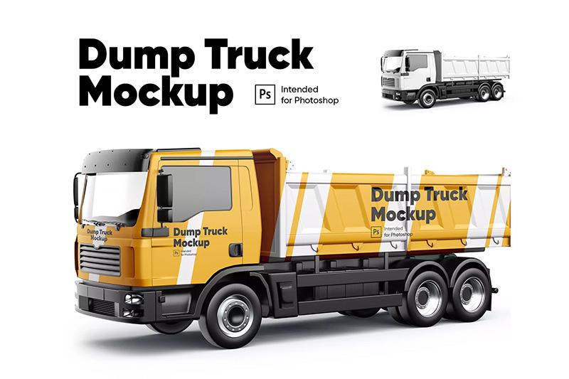 自卸车卡车车身印花图案设计图样机模板designshidai_yj328
