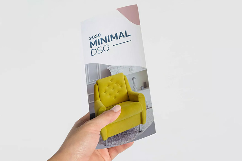 三折页家具品牌手册设计样机模板 Trifold Mock Up designshidai_yj223