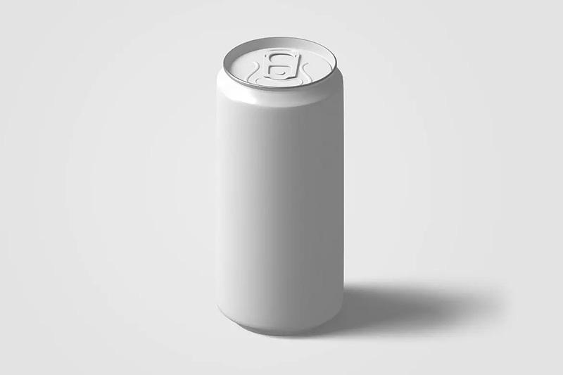 碳酸饮料/苏打水易拉罐产品外观预览样机V.3 Soda Can Mockup V.3 designshidai_yj350