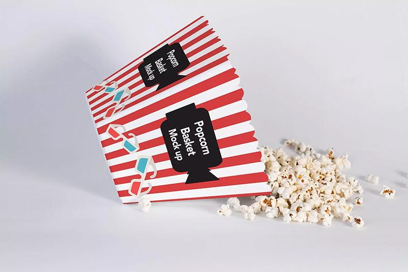 爆米花桶外包装效果预览样机模板 Popcorn Bucket Mockup designshidai_yj357