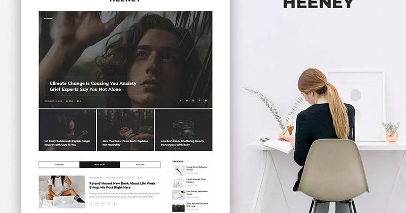 时尚博客故事网站设计PSD模板designshidai_ui32