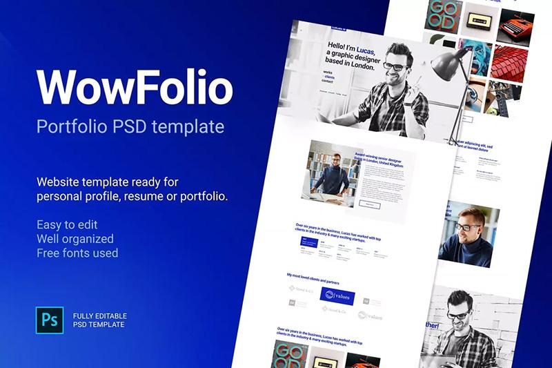 创意一页设计现代网站页面UI套件PSD模板designshidai_ui33