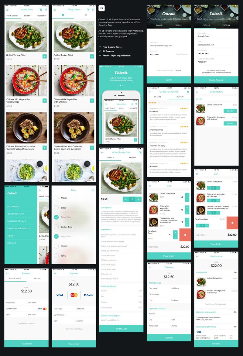 美食整套手机ui界面设计designshidai_ui85