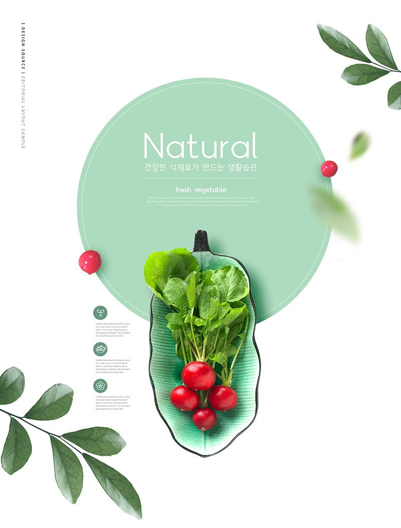 樱桃萝卜农产品推广海报设计素材designshidai_haibao15