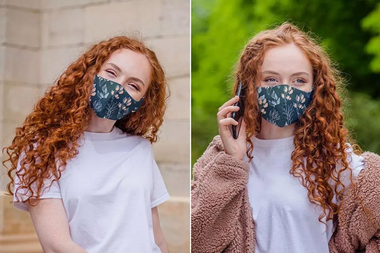 棉质一次性口罩外观设计样机模板designshidai_yj378