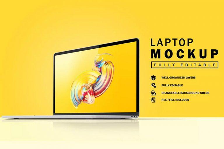 超薄MacBook笔记本电脑UI设计屏幕预览样机designshidai_yj381