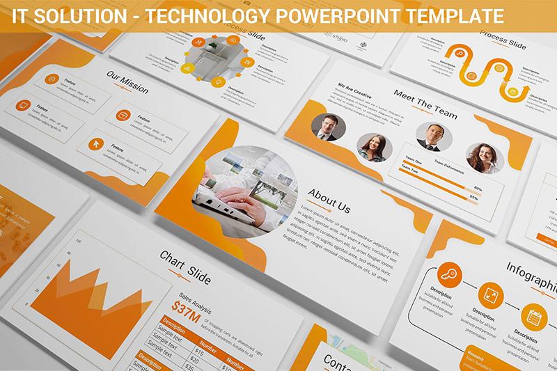 IT解决方案展示技术演讲Powerpoint模板designshidai_ppt006