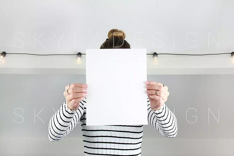 简约风优雅场景空白纸样机模板designshidai_yj285