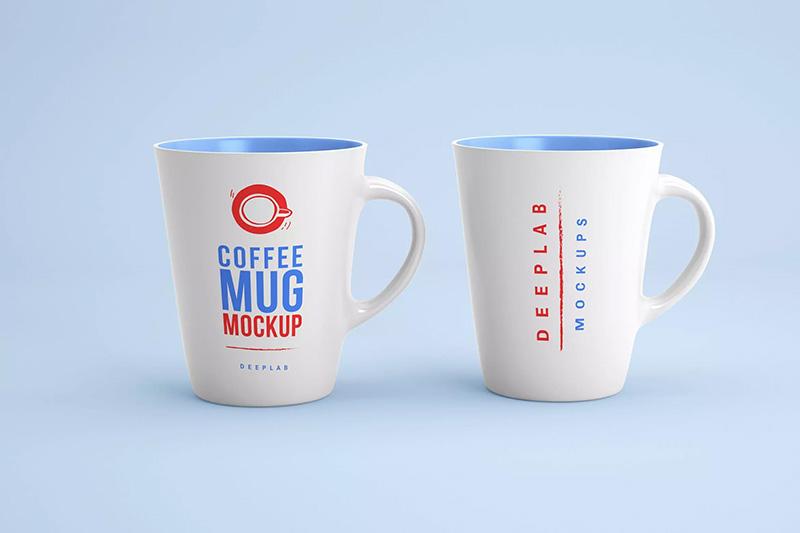 陶瓷咖啡杯品牌Logo设计样机模板 Coffee Mug Mockup designshidai_yj291