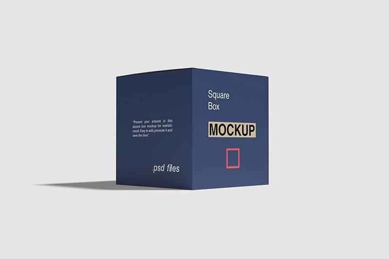方形礼品盒包装设计样机模板designshidai_yj307