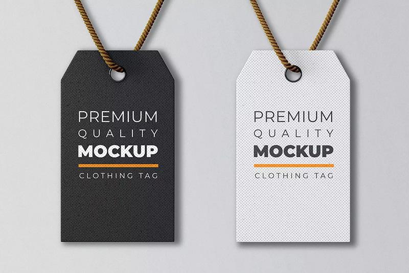 简约风品牌服装标签设计效果图样机模板designshidai_yj211