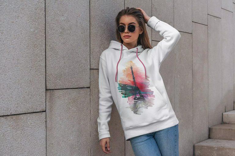 街拍场景卫衣印花图案设计展示样机designshidai_yj361