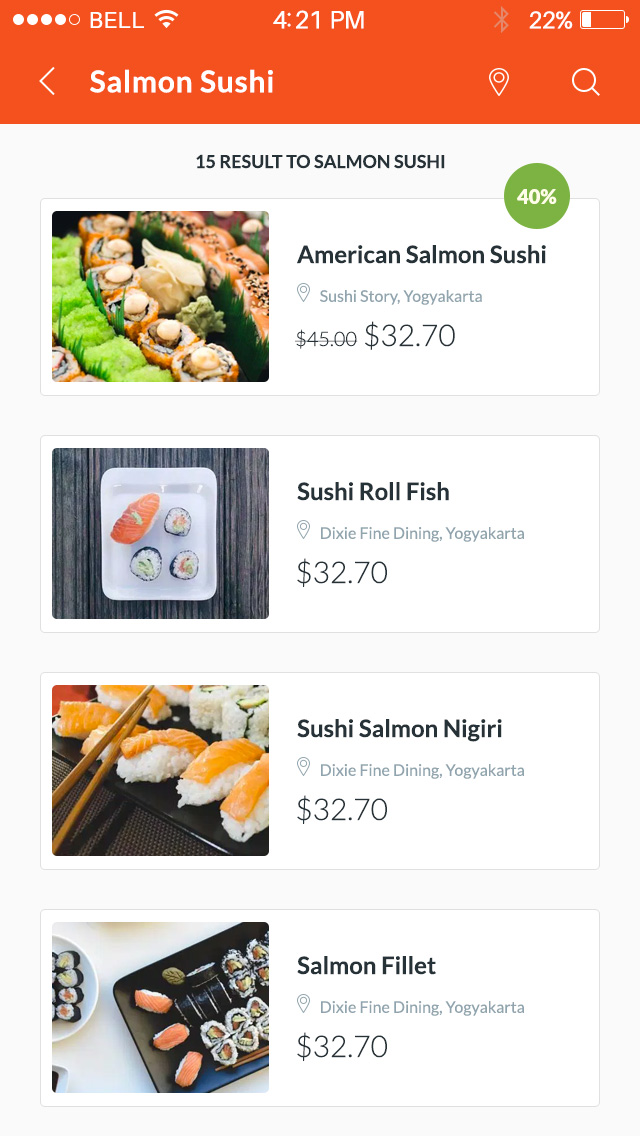 美食外卖 UI 设计界面模板designshidai_ui99