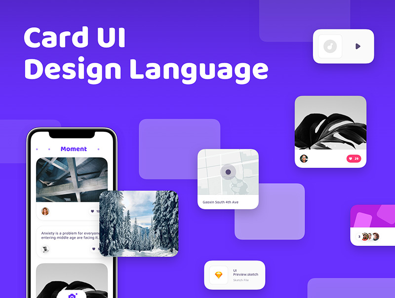社交聊天APP应用UI设计套件designshidai_ui38