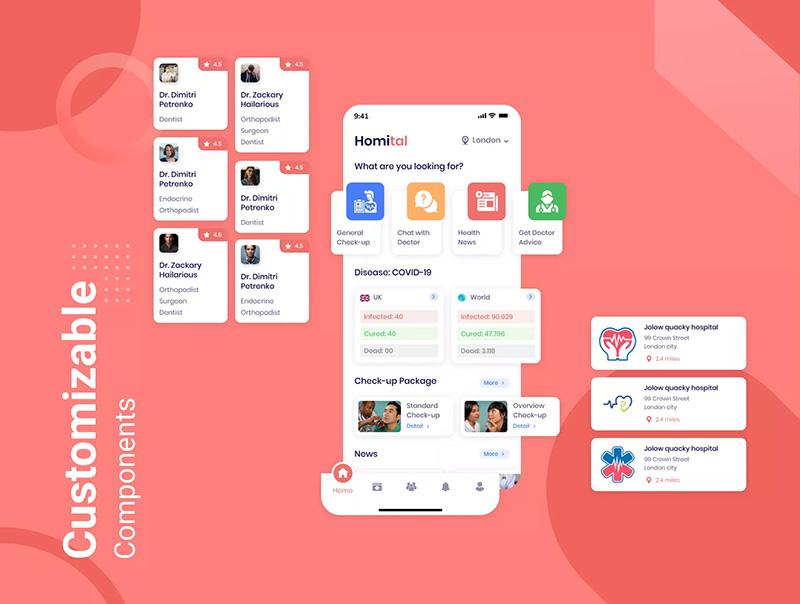远程医疗APP应用iOS UI套件designshidai_ui43