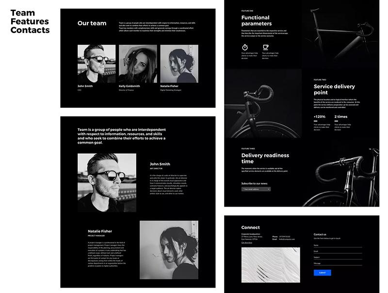 适用于Sketch的模块化Web网站设计系统designshidai_ui44