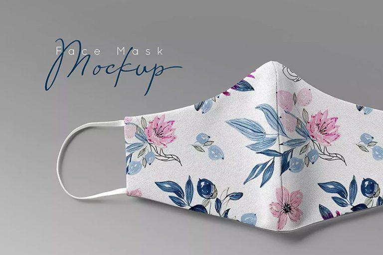 时尚口罩印花图案设计展示样机designshidai_yj369