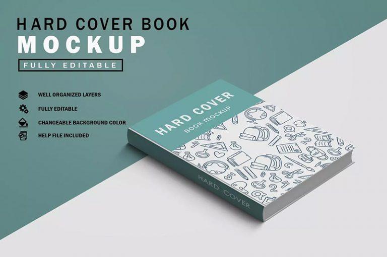 精装硬封图书封面设计图样机designshidai_yj377