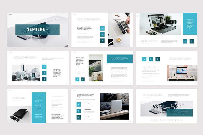 简洁风商业营销Powerpoint模板designshidai_ppt003