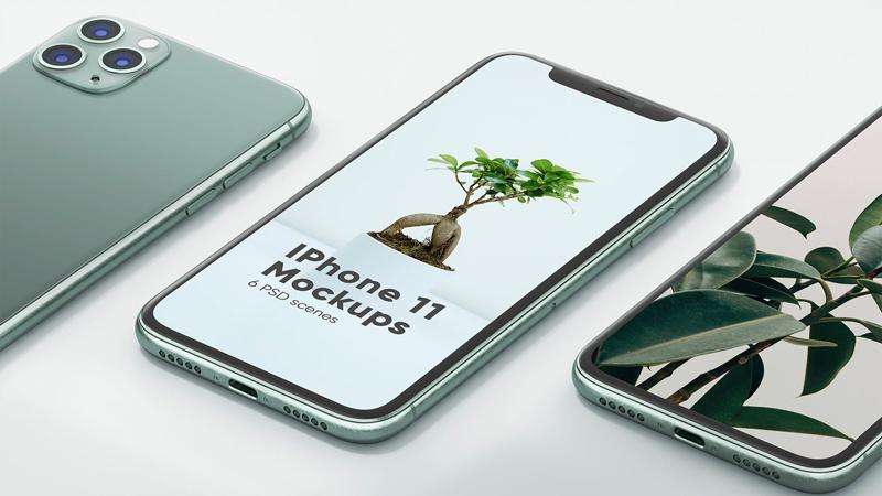 iPhone 11&MacBook响应式UI设计屏幕预览效果图样机素材包designshidai_yj217