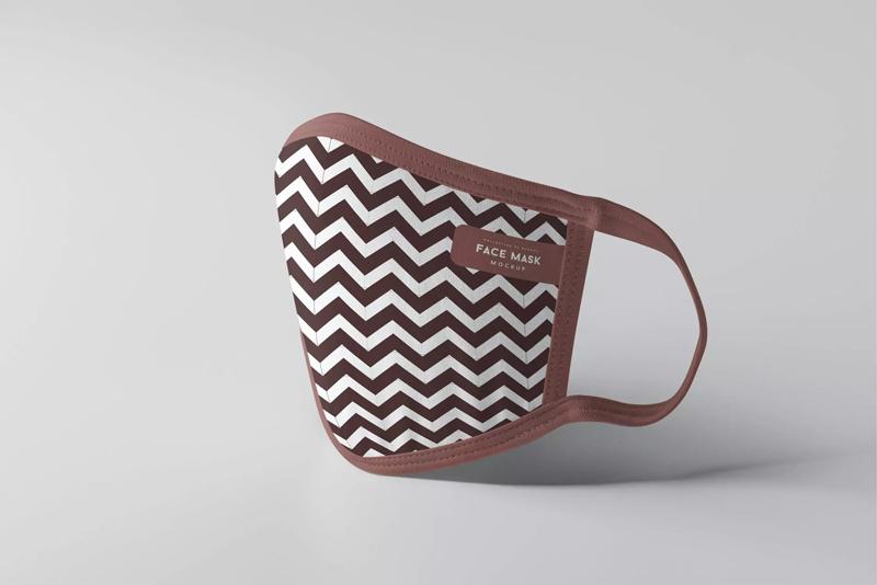 棉质口罩设计效果图展示样机模板designshidai_yj219