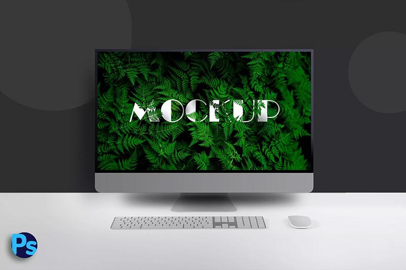 iMac Pro一体机电脑屏幕演示样机模板designshidai_yj286