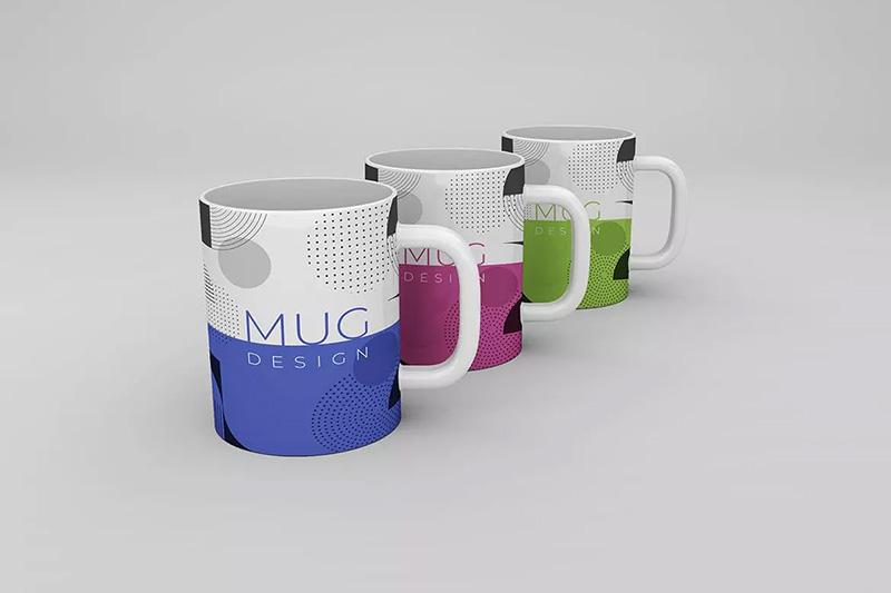 多角度预览马克杯定制杯子品牌效果图样机designshidai_yj305