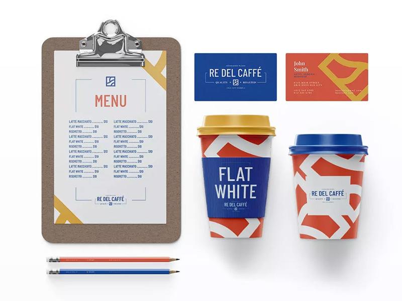 咖啡品牌效果图预览组合样机模板包designshidai_yj306