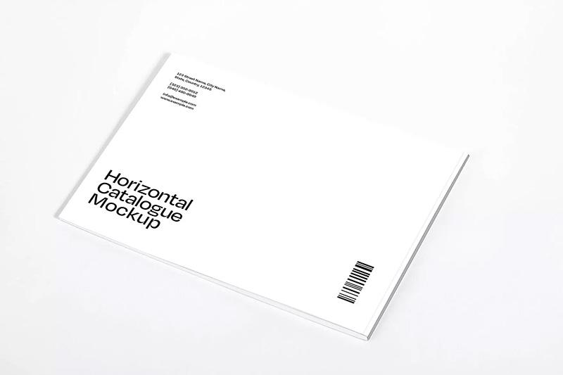 横版规格产品目录杂志内页排版设计样机模板designshidai_yj344