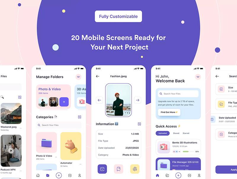 文件管理App应用iOS UI套件designshidai_ui11