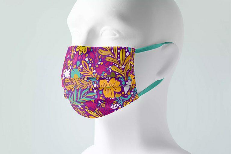 时尚印花口罩设计效果图样机designshidai_yj362
