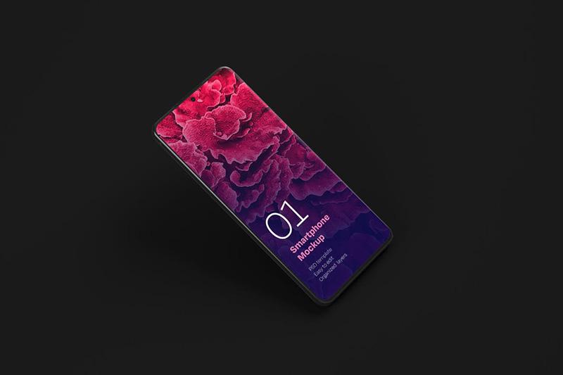高级三星Galaxy S20实体手机样机模板| Android屏幕designshidai_yj241