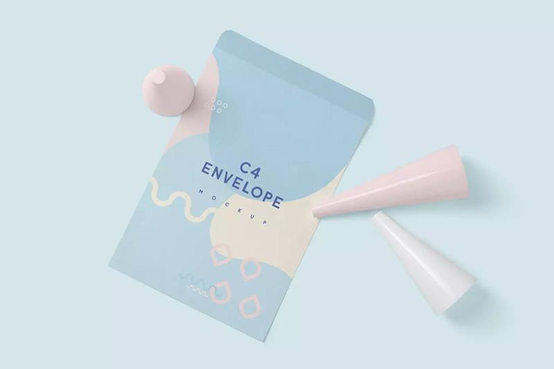 专业的C4信封品牌展示样机designshidai_yj248