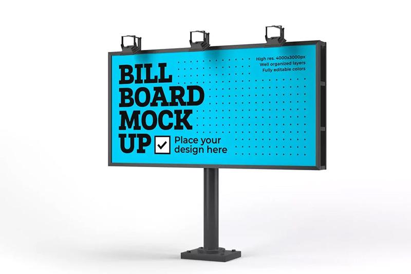 户外大型广告牌效果图样机模板 Billboard Mockup Set designshidai_yj224