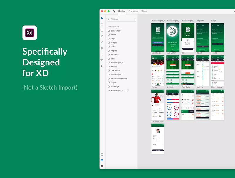 体育竞猜App应用UI设计套件designshidai_ui17